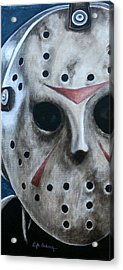 Acrylic Print featuring the painting Jason Up Close And Personal  by Al  Molina