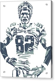 Jason Witten Dallas Cowboys Pixel Art Acrylic Print