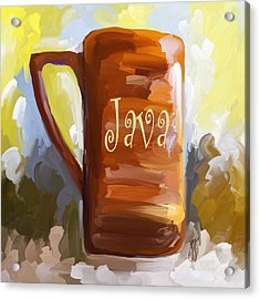 Java Coffee Cup Acrylic Print