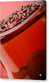 Java In Red Acrylic Print by Lucas Boyd