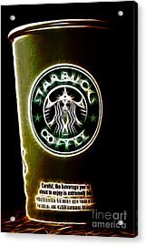 Java Jolt . The Beverage You Are About To Enjoy Is Extremely Hot Acrylic Print by Wingsdomain Art and Photography
