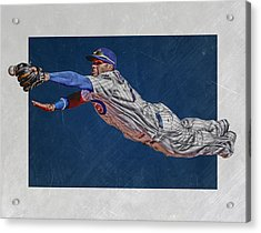 Javier Baez Chicago Cubs Art 2 Acrylic Print by Joe Hamilton