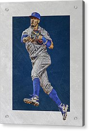 Javier Baez Chicago Cubs Art Acrylic Print by Joe Hamilton