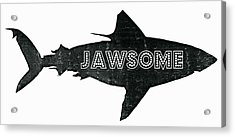 Jawsome Acrylic Print by Michelle Calkins