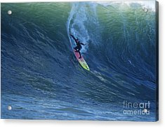 Jay Drops In At Mavericks Acrylic Print