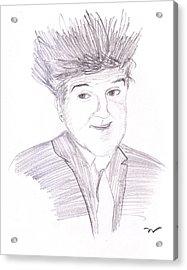 Jay Leno Hair Day Acrylic Print by M Valeriano