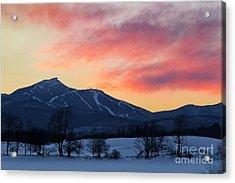 Jay Peak Winter Twilight Acrylic Print