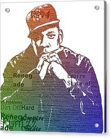 Jay Z Typography Acrylic Print