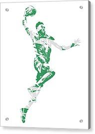 Jaylen Brown Boston Celtics Pixel Art 10 Acrylic Print