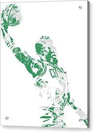 Jaylen Brown Boston Celtics Pixel Art 11 Acrylic Print