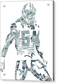 Jaylon Smith Dallas Cowboys Pixel Art Acrylic Print