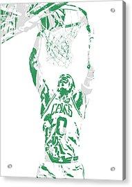 Jayson Tatum Boston Celtics Pixel Art 10 Acrylic Print