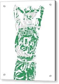 Jayson Tatum Boston Celtics Pixel Art 12 Acrylic Print