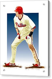 Jayson Werth Acrylic Print by Scott Weigner