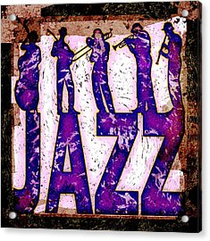 Jazz Abstract Acrylic Print by David G Paul