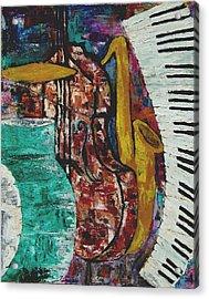 Jazz Acrylic Print by Andrea Vazquez-Davidson