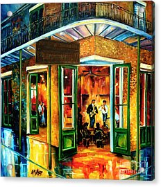 Jazz At The Maison Bourbon Acrylic Print