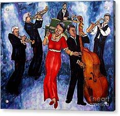 Jazz Band Acrylic Print by Linda Marcille