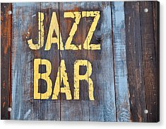 Jazz Bar Acrylic Print by Keith Sanders
