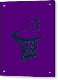 Jazz Basketball Hoop Acrylic Print by Joe Hamilton