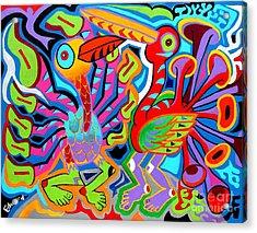 Jazz Birds Acrylic Print by Ed Tajchman