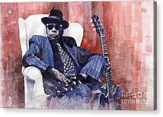 Jazz Bluesman John Lee Hooker 02 Acrylic Print