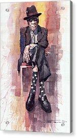 Jazz Bluesman John Lee Hooker Acrylic Print by Yuriy  Shevchuk