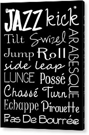 Jazz Dance Subway Art  Poster Acrylic Print