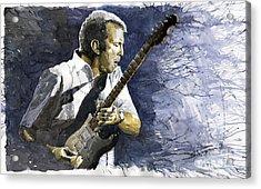 Jazz Eric Clapton 1 Acrylic Print by Yuriy  Shevchuk