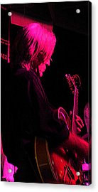 Acrylic Print featuring the photograph Jazz Guitarist by Lori Seaman