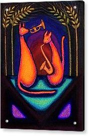 Jazz Kats Acrylic Print