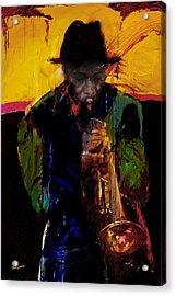 Jazz Man 3 Acrylic Print by James VerDoorn