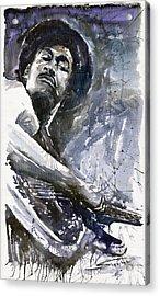 Jazz Marcus Miller 01 Acrylic Print by Yuriy  Shevchuk