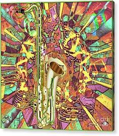 Acrylic Print featuring the digital art Jazz Me Up by Eleni Mac Synodinos
