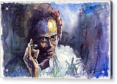 Jazz Miles Davis 11 Acrylic Print by Yuriy  Shevchuk