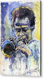 Jazz Miles Davis 12 Acrylic Print by Yuriy  Shevchuk