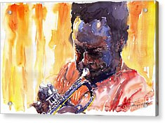 Jazz Miles Davis 8 Acrylic Print by Yuriy  Shevchuk