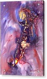 Jazz Miles Davis Electric 3 Acrylic Print by Yuriy  Shevchuk