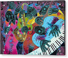 Jazz On Ogontz Ave. Acrylic Print by Larry Poncho Brown