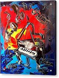 Jazz Piano Acrylic Print by Mark Kazav