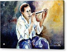 Jazz Player Acrylic Print by Joyce A Guariglia