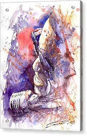 Jazz Ray Charles Acrylic Print by Yuriy  Shevchuk