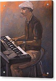 Jazz Acrylic Print by Reb Frost