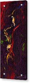Jazz Red Saxophonist Acrylic Print