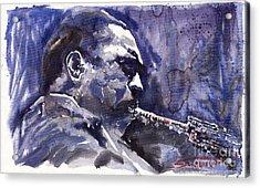 Jazz Saxophonist John Coltrane 01 Acrylic Print