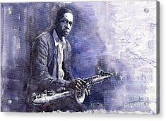 Jazz Saxophonist John Coltrane 03 Acrylic Print by Yuriy  Shevchuk