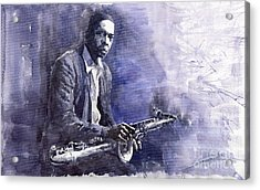 Jazz Saxophonist John Coltrane 03 Acrylic Print