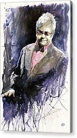 Jazz Sir Elton John Acrylic Print by Yuriy  Shevchuk