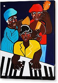 Jazz Sunshine Band Acrylic Print by Nora Shepley