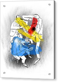 Jazz Trio Acrylic Print by Sean Hagan